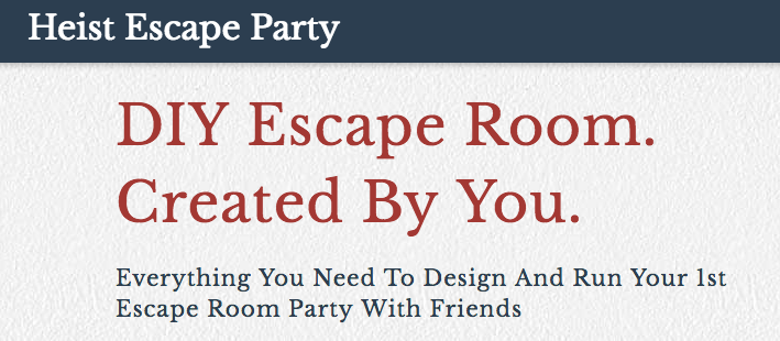 graphic relating to Free Printable Escape Room Kit identify Heist Bash Build a Do it yourself Escape Place at dwelling, specifically print